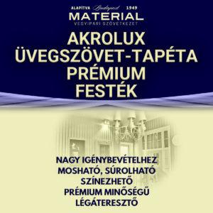 AKROLUX üvegszövet-tapéta prémium festék