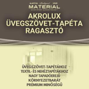 AKROLUX üvegszövet-tapéta ragasztó