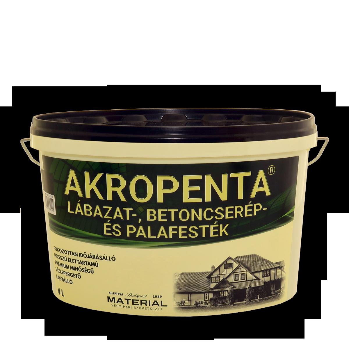 Akropenta lábazat-, betoncserép és palafesték