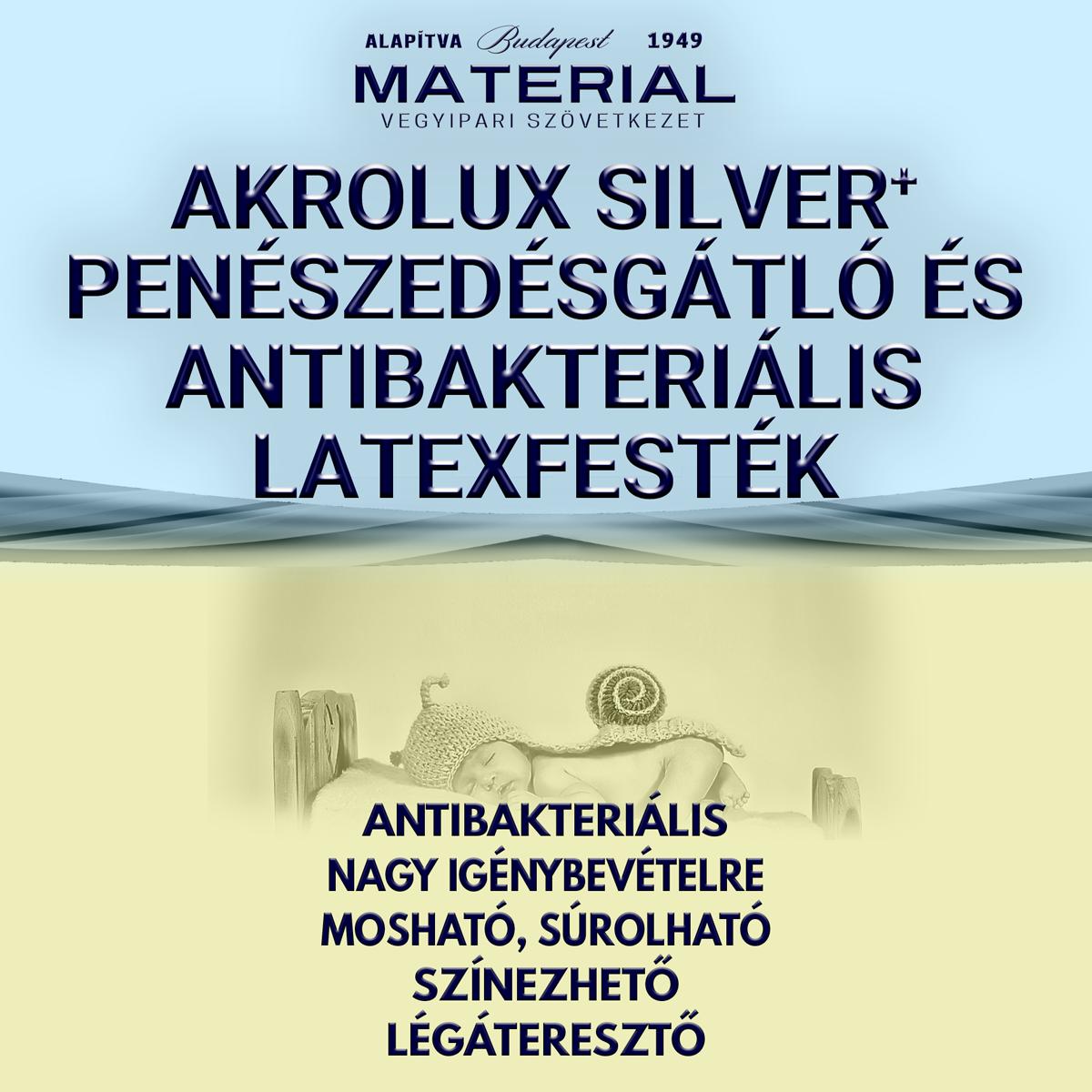 AKROLUX SILVER+ penészedésgátló és antibakteriális latexfesték